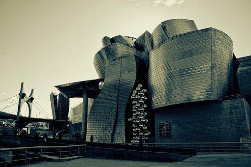 Bilbao, Blanco Y Negro, Guggenheim, Museum