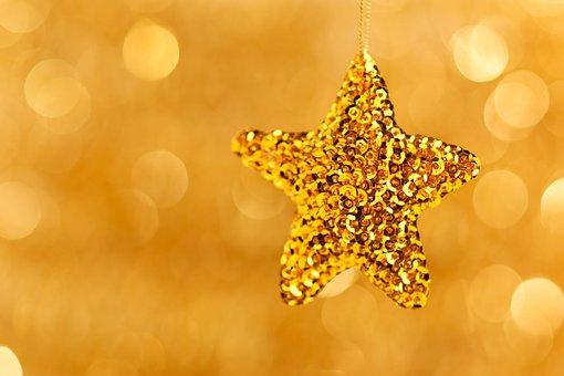 Star, Decoration, Background, Blur, Blurred, Blurry