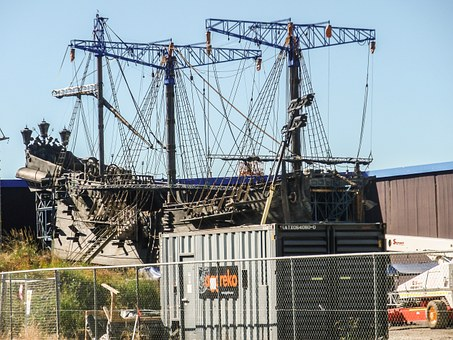 Galleon, Ship, Boat, Pirate, Model, Film Set