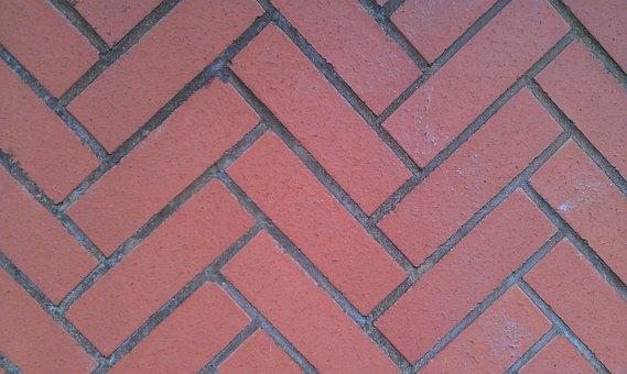 Red Diagonal Bricks, Red Bricks, Bricks, Feature, Red