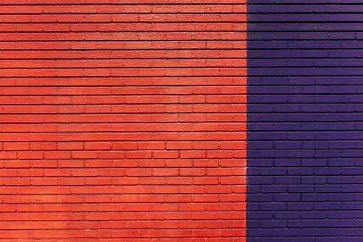 Brick, Wall, Texture, Red, Violet, Brickwork, Brickwall