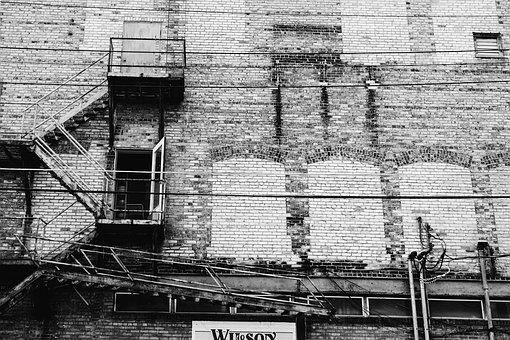 Wall, Industrial, Building, Exterior, Brickwall