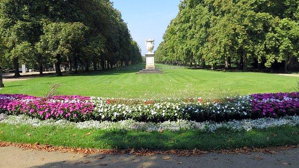 Pillnitz, Dresden, Castle Park, Flowers, Monument