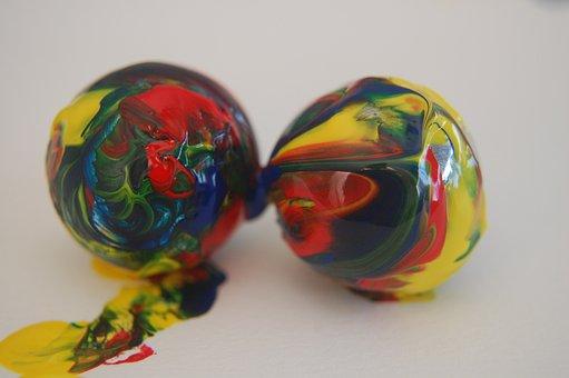 Marbles, Painted, Paint, Colors, Colours, Colourful