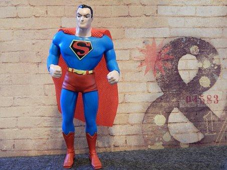 Superman, Superhero, Toy, Hero, Man, Costume, Cartoon