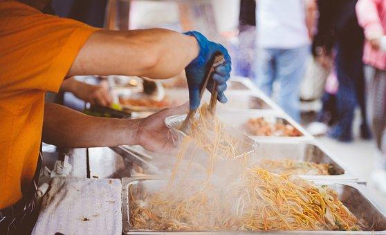 Cooking, Crowd, Food, Hot, Man, Market, Meal, Noodles
