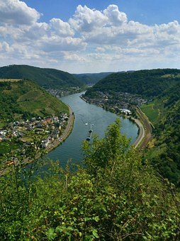 Mosel, River, Germany, Europe, Moselle, Village