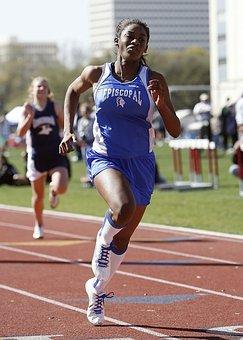 Runner, Sprinter, Female, Girl, Athlete, Sprinting