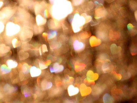 Bokeh, Blur, Lights, Background, Hearts, Shine, Glitter