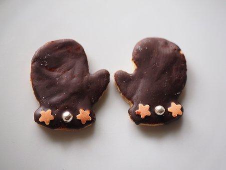 Gloves, Chocolate, Cookie, Ausstecherle, Guzle