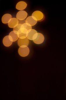 Bokeh, Star, Background, Gold, Backdrop, Glowing