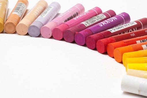 Pastels, Oil Pastels, Colorful, Half Circle, Paint