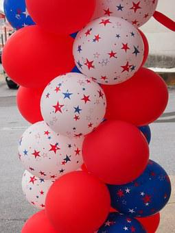 Balloons, Holiday, Summer, 4th Of July, Celebration