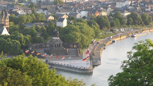 Koblenz, Germany, Rhine, Landmark, Rhineland-palatinate