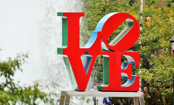 Love, Philadelphia, Modern Art, Love Plaza, Usa, Red
