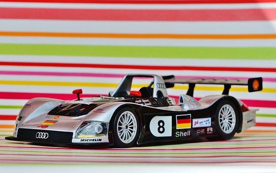 Racing Car, Le Mans, 1999, Silver, Auto, Model Car