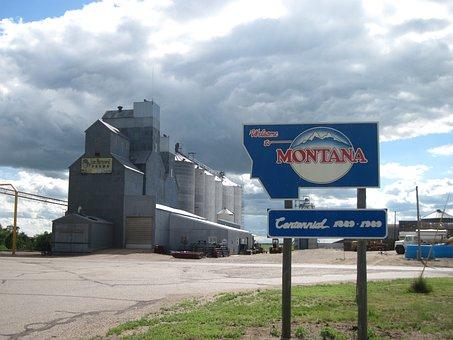 Granary, Montana State Line, Hiline Highway, America