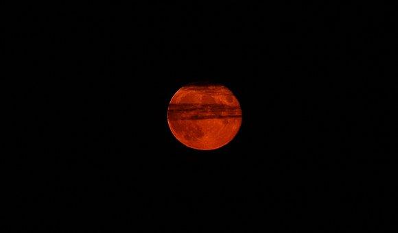 Blood Moon, Moon, Full Moon, Night, Moonlight, Moonrise