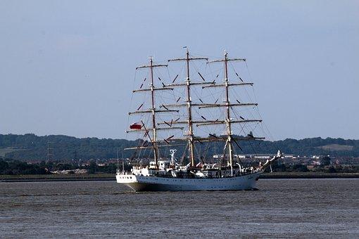Ship, Sails, Masts, Tall, Sea, Ocean, Vessel, Nautical