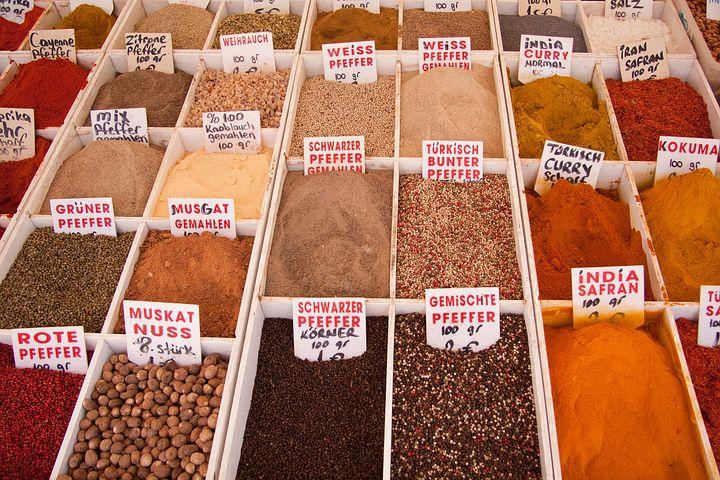 Spices, Market, Bazaar, Trading Post, Oriental, Bargain
