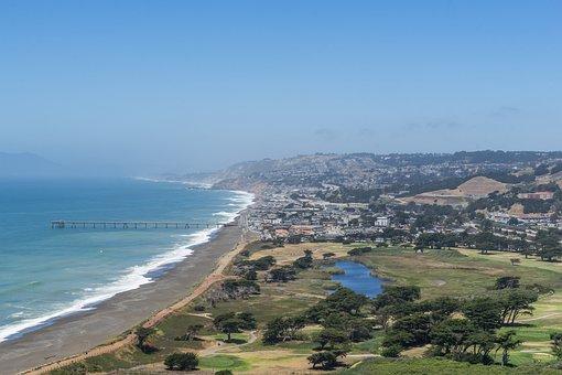 Pacifica, Norcal, California, Pier, Pacific, Beach