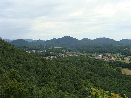 Rehberg, Palatinate Forest, Hill, Mountain, Village