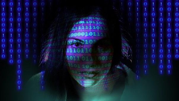 Binary, Woman, Face, Pay, Zero One, Http, Www, Crash