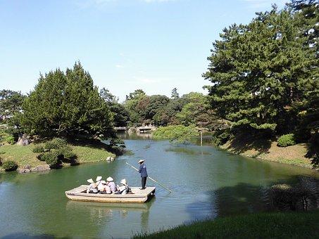 Kagawa Prefecture, Ritsurin Park, Boatman
