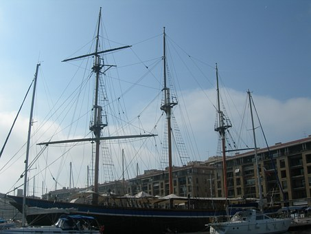 Sailboat, Marseille, Port, Three-masted, France