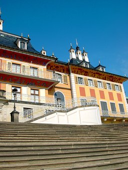Castle, Pillnitz, Terrace Shores, Staircase