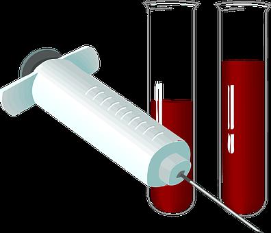 Syringe, Tubes, Lab, Laboratory, Blood, Test, Analysis