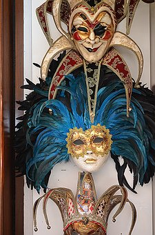 Masks, Venetian Mask, Venice, Italy, Window, Tourism