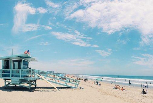 Beach, Usa, Coast, Water, Water Front, Travel, Ocean