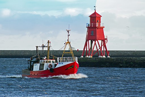 Trawler, Fishing, Northshields, River Tyne