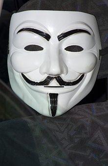 Anonimmus, Mask, Venice, Carnival, White, Black