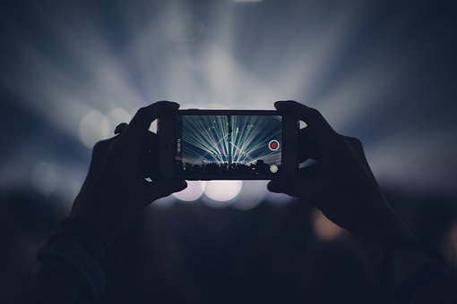 Iphone, Concert, Lights, Stage Lights, Record, Video