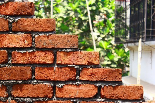 Bricks, Wall, Stacked, Staggered, Construction
