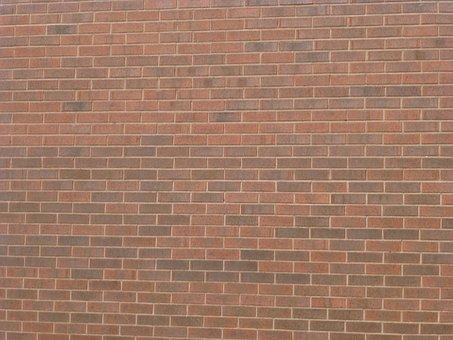 Brick Wall, Brick, Wall, Red Square Paving, Texture