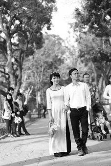 Wedding, Ha Noi, Hoan Kiem Lake, Autumn, Weak, A Couple