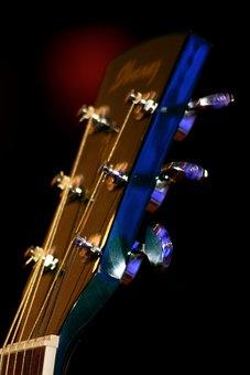 Music, Guitar, Instrument, Acoustic Guitar, Guitar Head