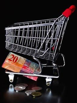 Money, Money Note, Dare, Shopping Cart, Basket