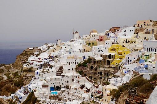 Greece, Santorini, Greek Island, Blue, Architecture