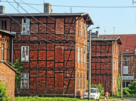 Londynek, Bydgoszcz, Poland, Houses, Building, Historic