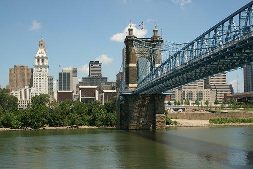 City Scape, Riverfront, City, Scape, Riverbank, River