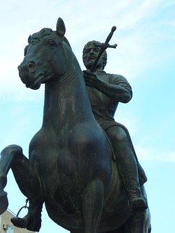 Statue, Equestrian, Conqueror, Explorer, Sculpture
