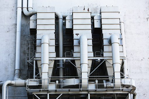Silo, Ventilation, Pipes, Industry, Factory