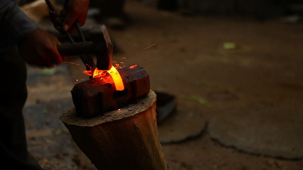 Blacksmith, Fire, In Rural Areas, Farmer, Deep Color