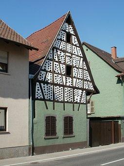 House, Hockenheim, Timber Framing, Structure, Building
