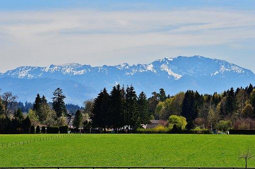 Landscape, Easter Lake, Iffeldorf, Romantic, Mountains