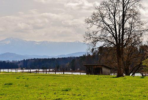 Easter Lake, Iffeldorf, Landscape, Mountains, Waters